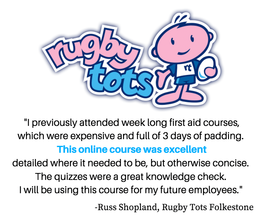 Online First Aid Rugby Tots