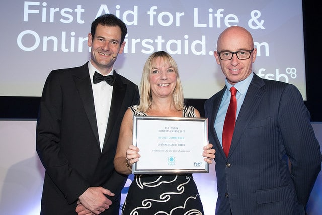 Award Winning First Aid Training - FSB Customer Service Award
