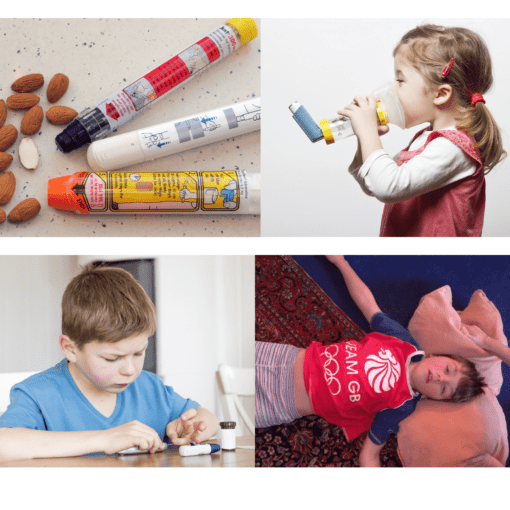Anaphylaxis, Asthma, Diabetes and Epilepsy