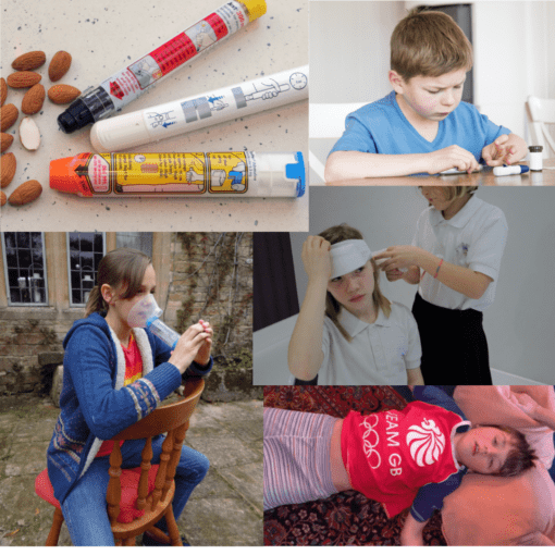 Anaphylaxis, Asthma, Diabetes, Epilepsy and Head Injuries